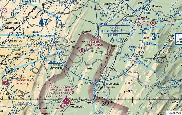 Fly In Directions-Heavens Landing Airstrip (4WV4)